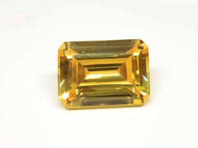 Cubic Zirconia Yellow 18x13mm Emerald Cut (S)