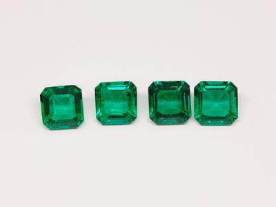Hydrothermal Emerald 5mm Square Emerald Cut (S)
