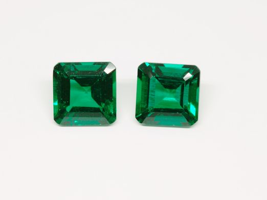 Hydrothermal Emerald 8mm Square Emerald Cut (S)