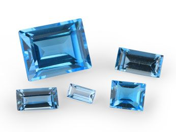 Topaz Medium Blue 5x4mm Baguette (T)