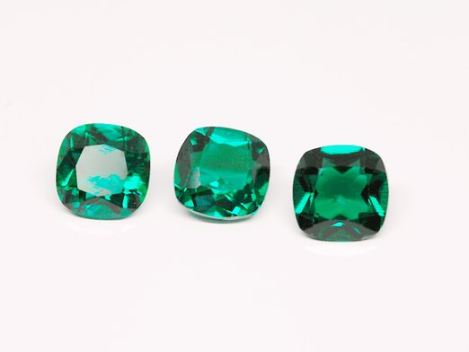 Hydrothermal Emerald 8mm Square Cushion Cut (S)
