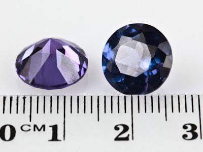 Synthetic Alexandrite Corundum 11mm Round (S)