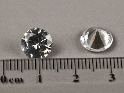 Syn White Spinel 9mm Round (S)