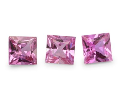 Pink Sapphire 4.5mm Princess Cut Good Pink (E)