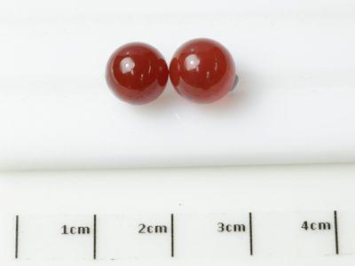 Carnelian 8mm Round Polish Bead H/D Pair (T)