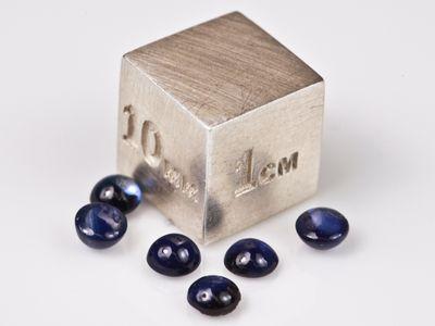 Sapphire Blue Aust 3-6mm Round Cabochon (E)