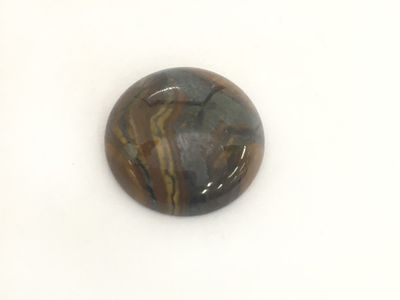 Tiger-eye Hematite 20mm Round Cab AAA (N)