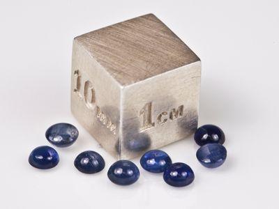 Sapphire Blue Aust 3.5mm Round Cabochon (E)