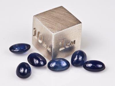 Sapphire Blue Aust 6x4mm Oval Cabochon (E)