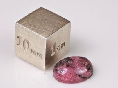 Rhodonite 10x8mm Oval Cabochon (N)
