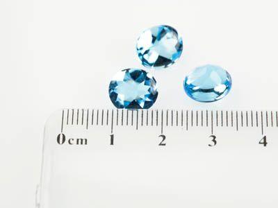 Topaz Medium Blue 10x8mm Oval BT (T)