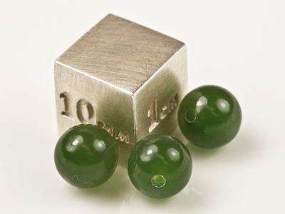 Nephrite Jade 6.5mm Round Bead H/D (N)