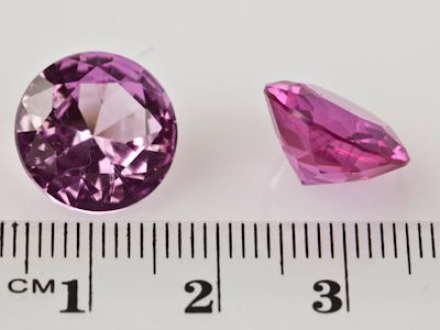 Synthetic Sapphire Pink 13mm Round (S)