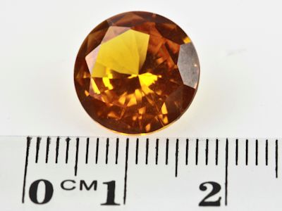 Synthetic Yellow Sapphire 13mm Round (S)