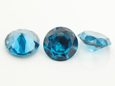 Synthetic Blue Spinel Zircon 13mm Round (S)