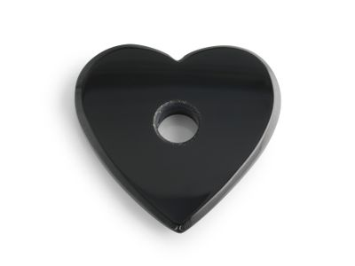 German Cut Onyx 16mm Heart Shaped Single Hold Drilled (T)