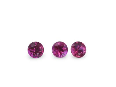 Ruby 3.25mm Round Good Pink Red (E)