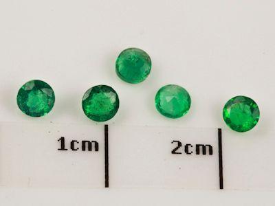 Emerald 3.25mm Round 2nd Grade (E)
