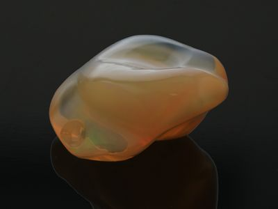 Mexican Fire Opal 23x20mm Freeform Orange (N)
