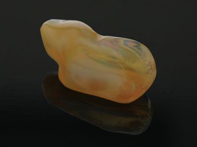 Mexican Fire Opal 20.5x10mm Freeform Yellow-Orange (N)