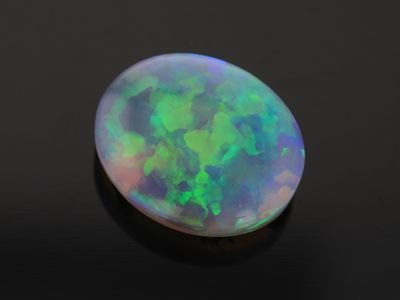 Black Crystal Opal 11.25x9.2mm Oval (N)