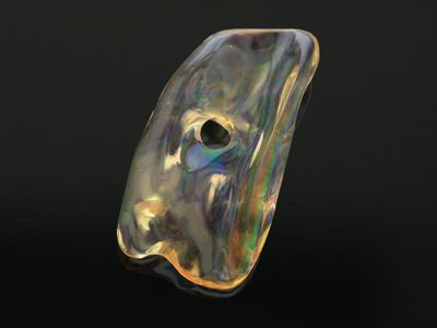 Mexican Fire Opal 21x11mm Freeform Light Orange D/T (N)