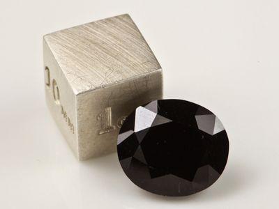 Black Serendibite 11.5x10mm Oval (N)