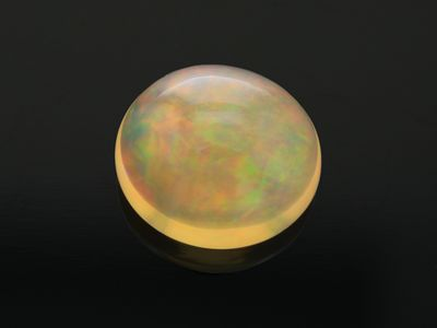 Mexican Fire Opal 12.5x11.2mm Oval Cab (N)