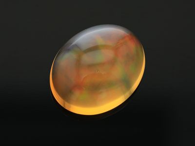 Mexican Fire Opal 14x11.3mm Oval Cab (N)