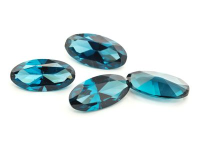 Synthetic Blue Spinel Zircon 15x7.5mm Oval EOL