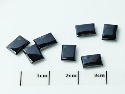 German Cut Haematite 7x5mm Rectangular BuffTop (N)
