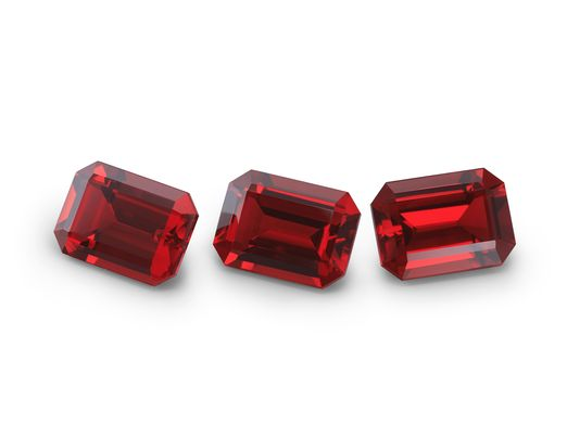 Kyocera Ruby 7x5mm Emerald Cut (S)