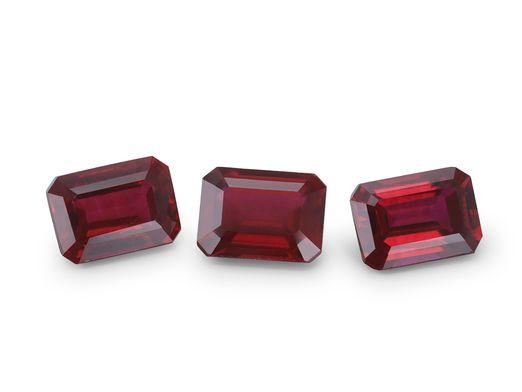 Hydrothermal Ruby 7x5mm Emerald Cut (S)