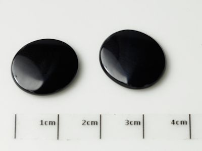 German Cut Onyx 16x14mm Oval BuffTop (T)
