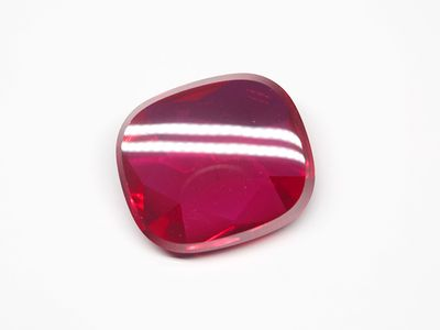 Ruby Syn Pink Red Buff-Top 16x14mm Cushion (S)