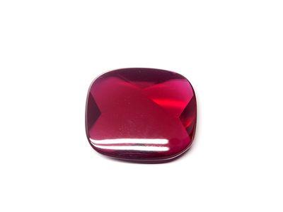 Ruby Syn Dark Red Buff-Top 16x14mm Cushion (S)