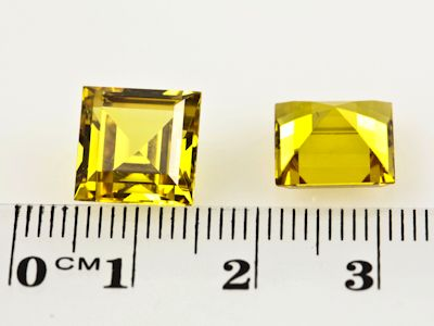Synthetic Yellow Sapphire 10mm Square (S)