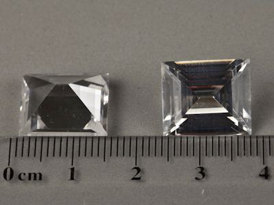 Synthetic White Spinel 14x12mm Baguette (S)