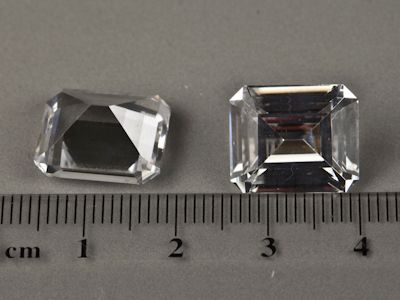 Synthetic White Spinel 14x12mm Emerald Cut (S)