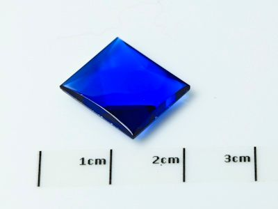 Bright Blue Syn Spinel Buff-Top 14x12mm Bag (S)