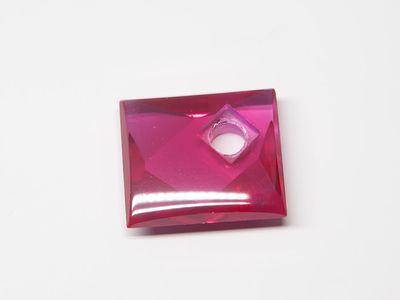 Syn Ruby Pink 14x12mm Rect BT Corner CS (S)