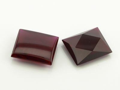 Syn Ruby Dark Red 14x12mm Bag Buff-Top (S)