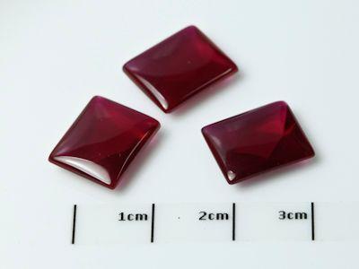 Syn Ruby Dark Red 12x10mm Bag Buff-Top (S)