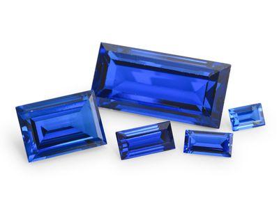 Synthetic Blue Sapphire 10x8mm Baguette (S)