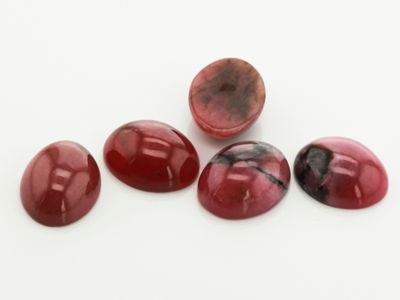 Rhodonite 10x8mm Oval Cabochon N)