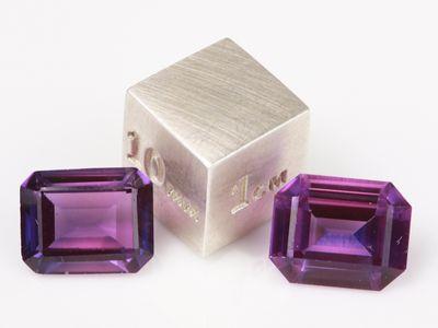 Synthetic Sapphire Purple 10x8mm Emerald Cut (S)
