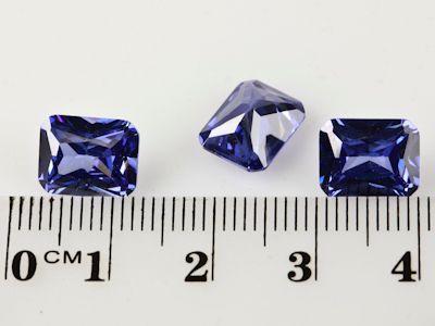 Cubic Zirconia Tanzanite 10x8mm Emerald Cut (S)