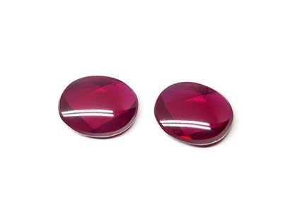 Ruby Syn Dark Red Buff-Top 10x8mm Oval (S)