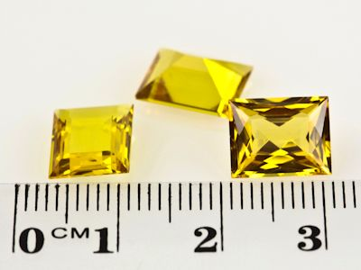 Synthetic Yellow Sapphire 10x8mm Baguette (S)