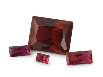 Synthetic Ruby Dark Red 10x8mm Baguette Radiant (S)